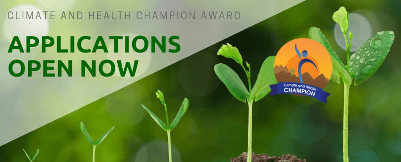 climate health champion applications are open